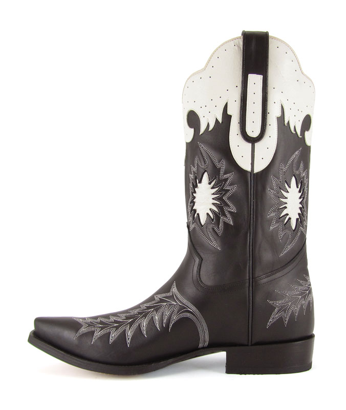 Stivale Jalisco Boots 582 Biker Breight Black Cowboys and